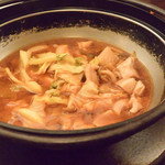 縁の鈴なり - 錦爽どりの旨辛鍋は具沢山で身体も温まります。
