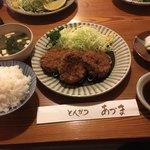 80710663 - ひれかつ(三枚)和豚もちぶた定食
