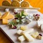 チーズの5種盛り合わせ