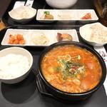 牛味 - ブデチゲ定食(¥1,090)