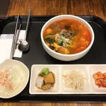 牛味 - カルビタンクッパ定食(¥890)