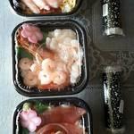 丼丸北海道 - えびかに丼  ・ えびづくし ・ 海峡丼  ・  いくら巻き   ・   エビマヨ巻き
