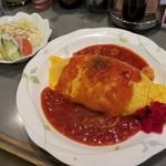 やませみ - 料理写真:特製トマトソースオムライス