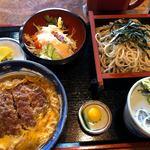 やぶそば - 料理写真:かつ丼セット 1100円。