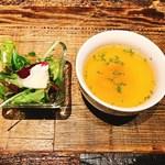 近江牛Steak&Wine 山村牛兵衛 - サラダ、スープ