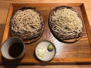 一草庵 紬 - 二種食べ比べ蕎麦