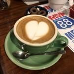 カフェ チャレンジャー 88 - ラテアート、上手じゃないけどと言いながら一生懸命作ってくださいました!