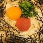 五右衛門  - たらこと湯葉とモッツァレラチーズのカルボナーラ1050円