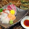 たまり処 ごん - 料理写真:お通し(刺し身盛り合わせ)