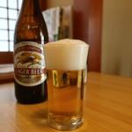 寿司懐石 かご家 - キリンラガー中瓶