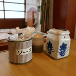 寿司懐石 かご家 - 卓上調味料