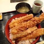 ぎおん 天ぷら 天周 - ミックス天丼(1,700円)