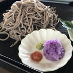 鹿落堂 - 料理写真:蕎麦と薬味