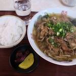 やしろ食堂 - 料理写真:スタミナラーメンと ご飯(小)