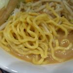 蔵味噌ラーメン 晴っぴ - 自家製中太麺