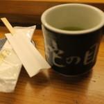 蛇の目寿司 - 湯呑デカいです
