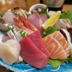 80733103 - 「鮮魚さしみ ゑびす盛り」(1280円)