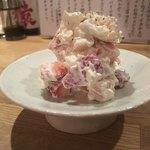 酒カネダ - 苺と筍のチーズ白和え