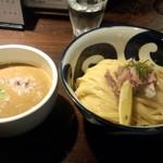 九十九里煮干つけ麺 志奈田 - 純濃煮干つけ麺(中盛)(890円)