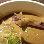 九十九里煮干つけ麺 志奈田 - 玉ねぎ