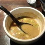九十九里煮干つけ麺 志奈田 - スープ割り