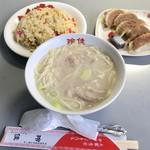 玲佳 - 料理写真:セット①(\650) ミニラーメン・ミニチャーハン・ミニ餃子