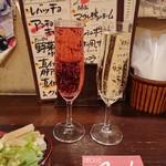 立飲Bistro-SHIN - 今日は白・ロゼ・赤の泡がありました◎