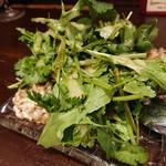 立飲Bistro-SHIN - 新メニュー、お替り続出! 「パクチー納豆」