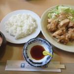 キッチン丸山 - 【とり天大盛セット(11個) 950円】
