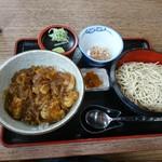 屋久茂 - 料理写真:カレー丼ともりそばのセット