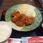 名古屋名物 名古屋丸八食堂 - 鶏天定食