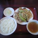中華料理雅晶 - 料理写真:肉野菜炒め定食 780円