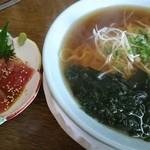 海づくし - 料理写真:まぐろづけラーメン(¥1190-)