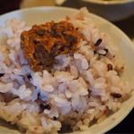 cafe ことだま - 古代米とおかず味噌