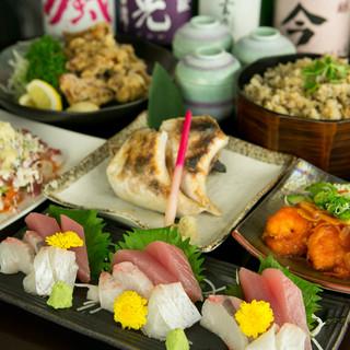 津駅での忘年会など各種宴会に!料理コースプラス飲み放題!