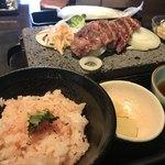 石焼ステーキ 贅  - 梅ご飯ライス少な目