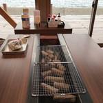 グリルハウス - 海が見えるBBQコーナー