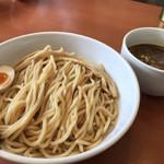 80773836 - 鶏白湯濃厚魚介つけめん(麺1.5倍)@950円