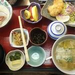 丸光亭 - ヒレカツ寒ブリの刺身定食