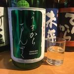 吟醸マグロ - まんさくの花 旨辛口純米酒 うまからまんさく