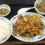 日高屋 - 料理写真:バクダン炒め定食  670円