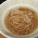 UMAMI SOUP Noodles 虹ソラ - 澄んだスープに加水率45%のふすま入りの茶色い手もみ平打ち麺(2018年2月10日)