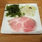 UMAMI SOUP Noodles 虹ソラ - 別皿の具(2018年2月10日)