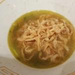 UMAMI SOUP Noodles 虹ソラ - 塩ソバの残ったスープに「味付替玉」を投入(2018年2月10日)
