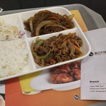 80793186 - 1801_Bornga Express LOTTE Shoppong Avenue_WOOSAMGYOP SET@45,000Rp(牛肉炒め、サムギョプサルセット)