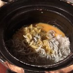 魚まみれ眞吉 - 土鍋ご飯、混ぜる前