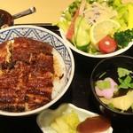 maruyahonten - 上うな丼(肝吸い付)サラダとセット