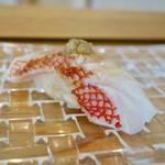 Kukizen - [2018/01]追加② 網走産釣りきんきの握り 肝乗せ