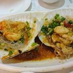 Tai Woo Seafood Restaurant - ◎ホタテの蒸し物豆鼓ソース1個78ドル
