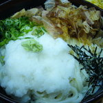 うどんや - おろし天婦羅うどん 冷(650円) こっちも麺の量ハンパネ~!!